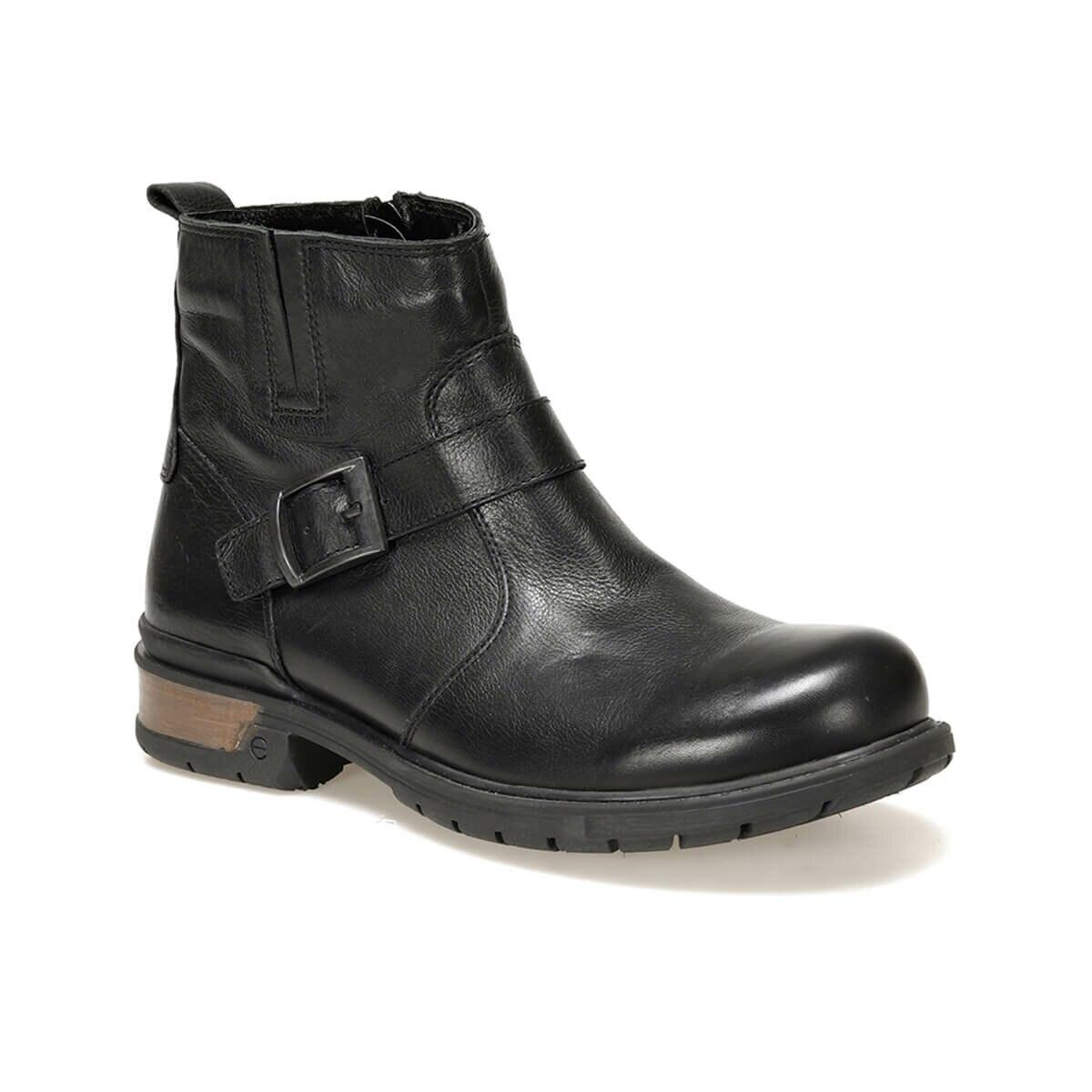 FLO Men Boots Fashion Leather Durable Winter Autumn Black Men Boots Мужские ботинки 3103 C 19 Forester