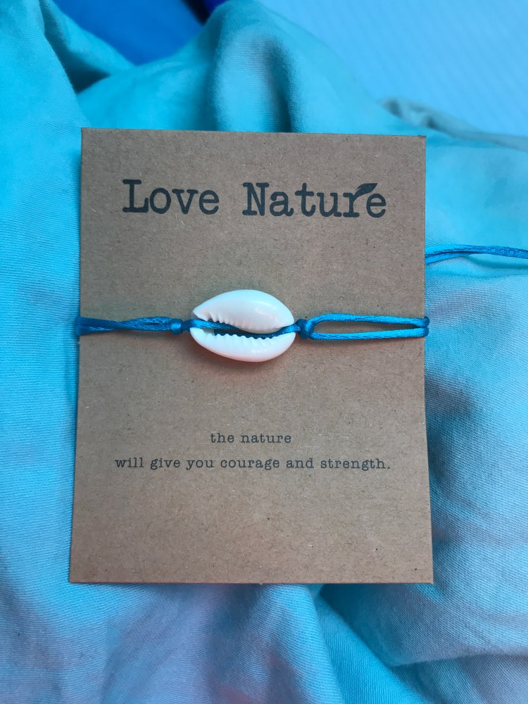 Love Nature Colourful Bracelet with a Shell