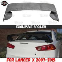 Exclusive spoiler for Mitsubishi Lancer 10 2007 2015 on lid trunk ABS plastic sport accessories car tuning aerodynamic wing