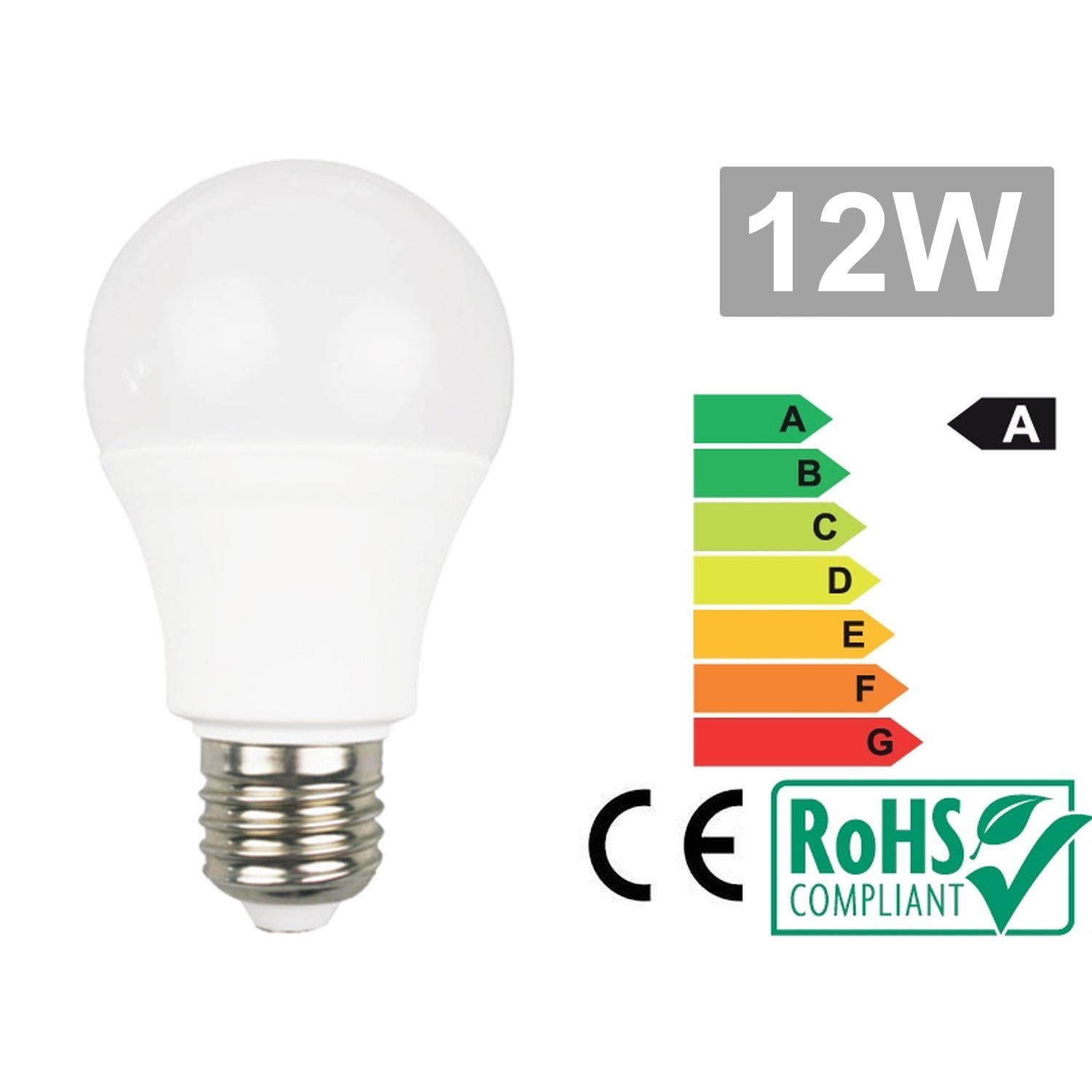 Led bulb E27 12W 6500k cold white