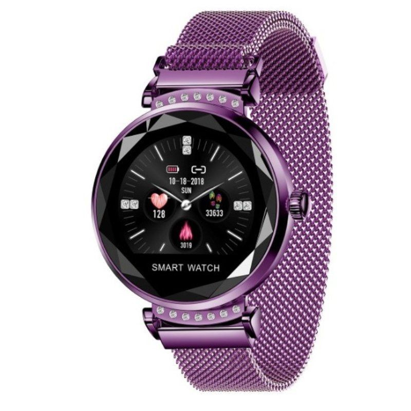 Smart Watch Innjoo Lady Crystal Purple-record Distance-heart Rate-monitoring Sleep-waterproof