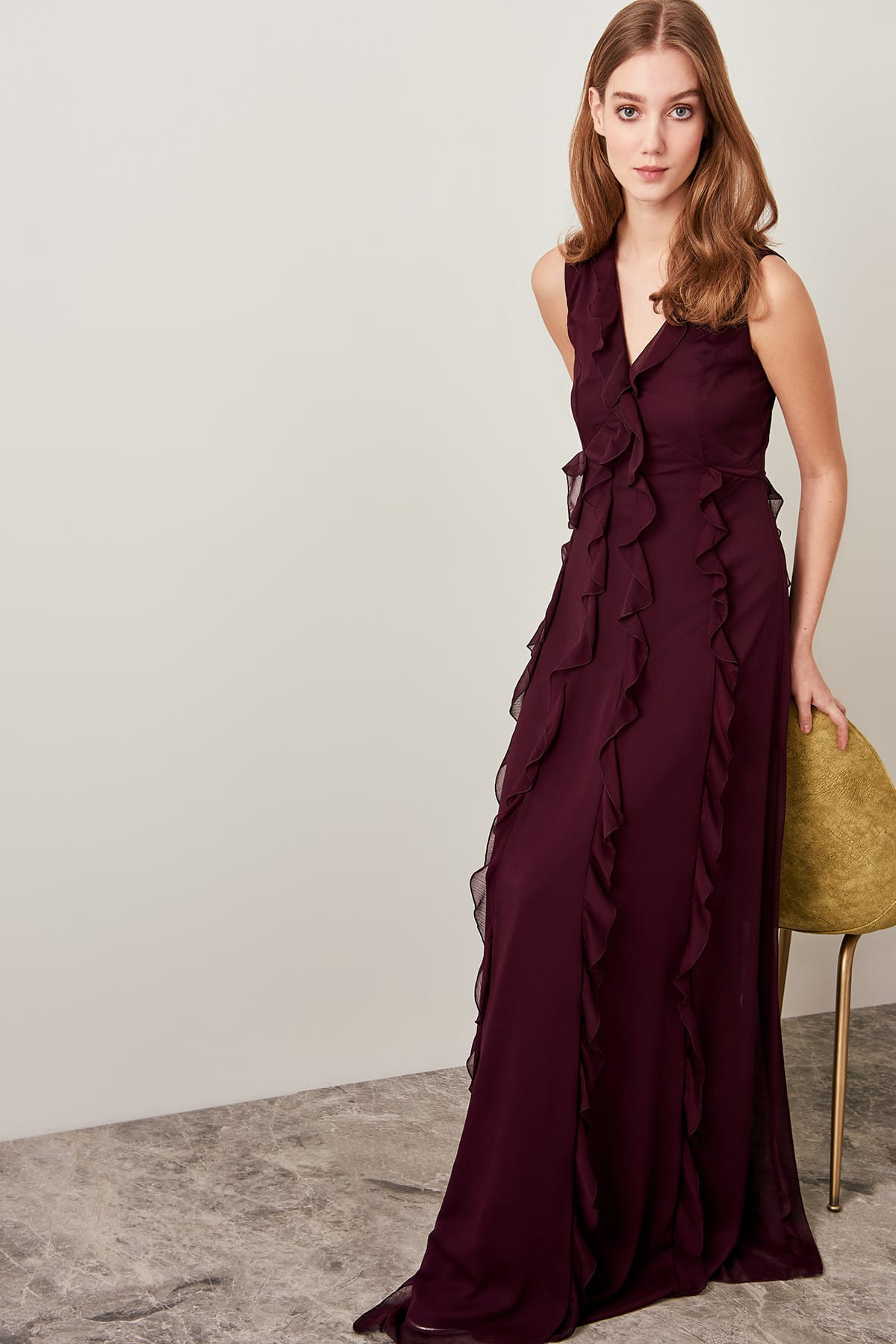 Trendyol Flywheel Detailed Evening Dress TPRSS19FZ0045