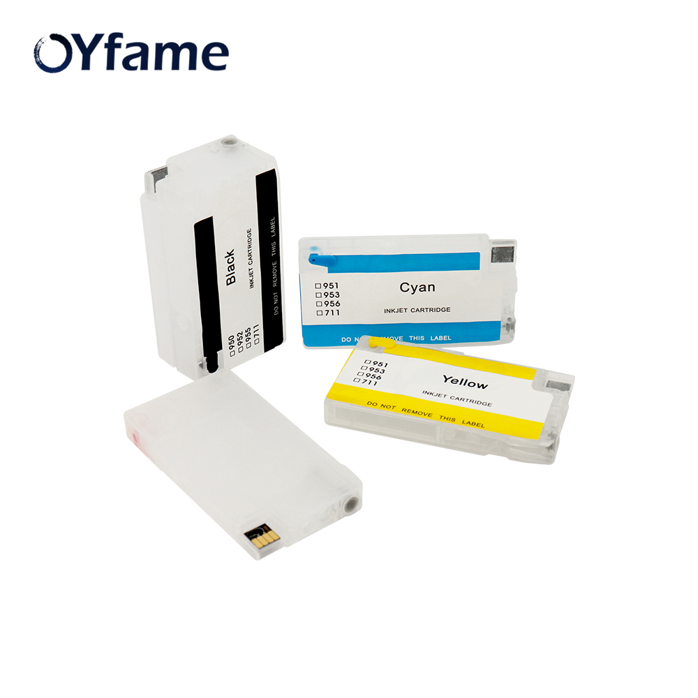 OYfame 950 ink cartridge For <font><b>HP</b></font> 950 <font><b>951</b></font> Refill Cartridge With Chip For <font><b>HP</b></font> 8100 8610 8620 8630 8640 8660 8615 8625 image
