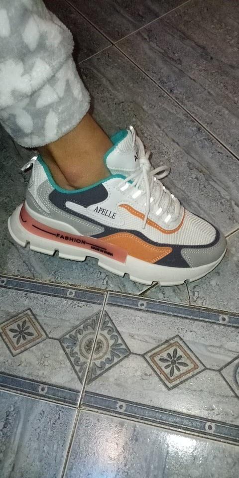 Zapatos informales con estilo para mujer, zapatillas gruesas con plataforma de cuero para papá, suela plana gruesa Harajuku, Ten