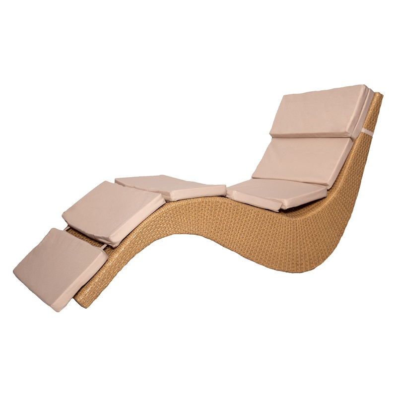 Chaise Lounge Anatomical Shape плетный Rattan