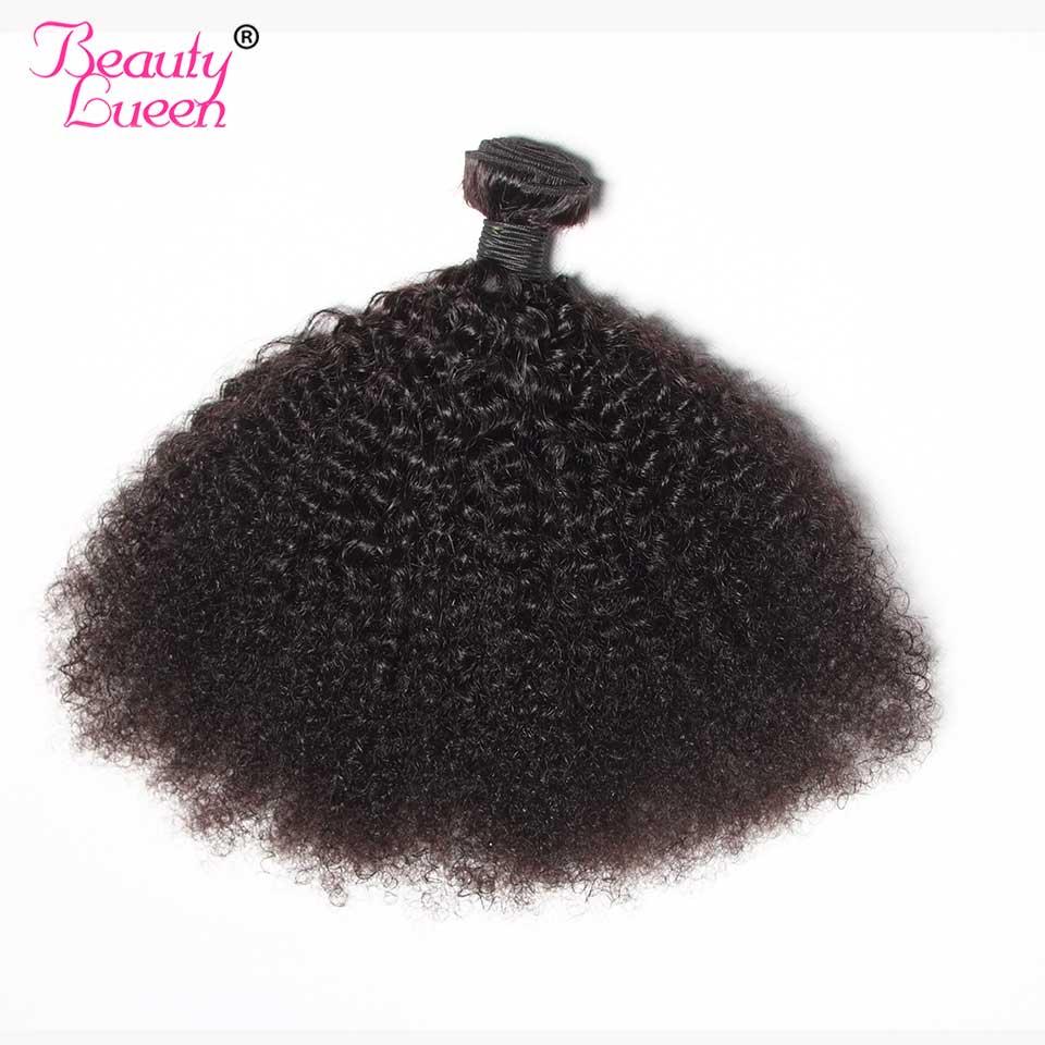 Afro Kinky Curly Weave Human Hair 3 Bundles Deal Brazilian Hair Weave Bundles Beauty Lueen Non Remy Human Hair Extensions