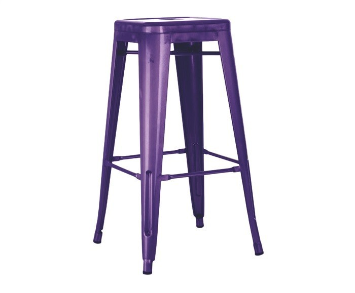 Stool TOL, Steel, Mauve