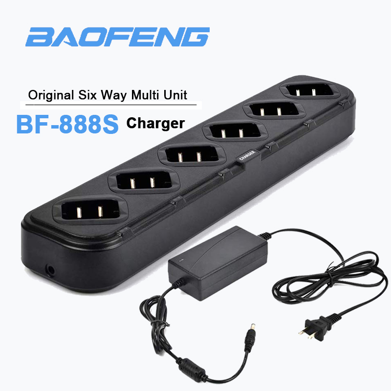 Baofeng 888S Battery Charger 6-Way Desktop Rapid Charger For Baofeng Pofung BF-888S BF-777S BF-999S Retevis H-777 Two-Way Radio