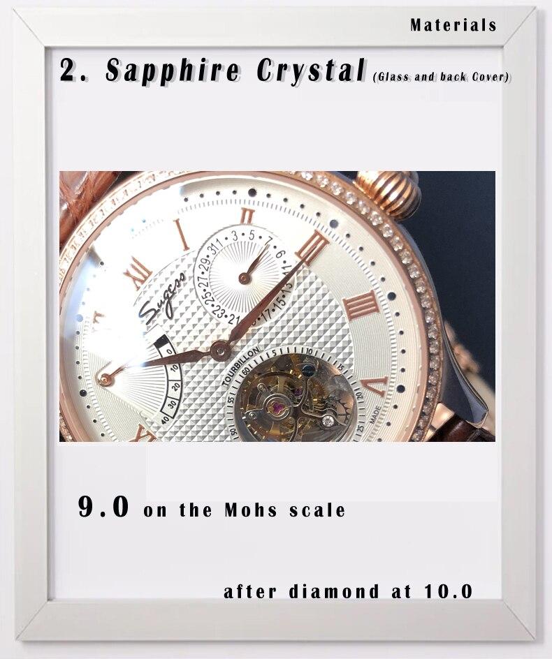 movimento relógio masculino calendário esqueleto ouro diamante
