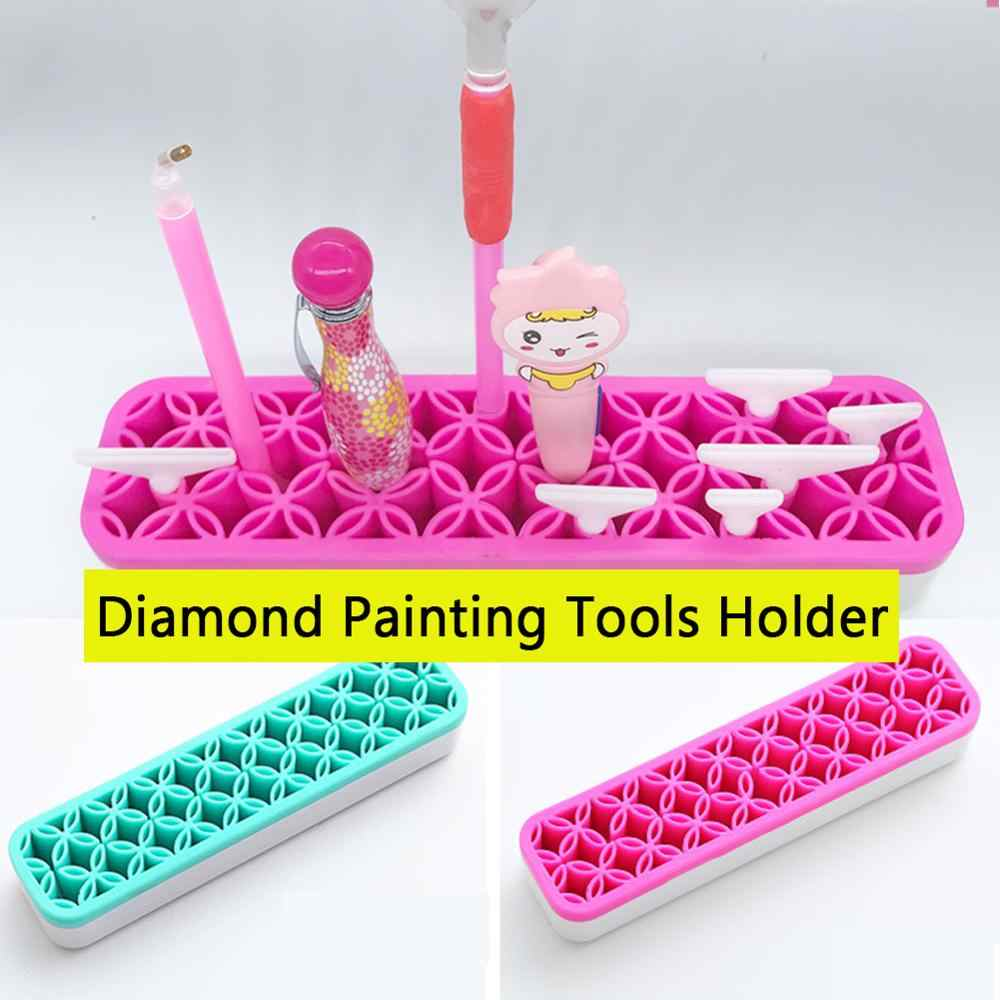 1 Pack Diamond Painting Pen Holder for Holding Drill Sticky Pens Display Stand Storage Case Desk Organizer Magic Diamond Painting Kits Accessories Tools for Kids or Adults