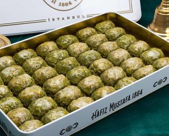 Tradycyjny świeży pyszny turecki Dilber baklawa z pistacją Deser baklawa turecka znana marka pistacjowa baklawa tanie i dobre opinie HAFIZ MUSTAFA TR (pochodzenie) Gotowanie pochodnie Deser narzędzia