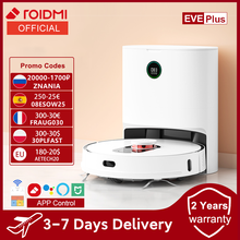código promocional (-25€):08ESOW25 ROIDMI-Robot aspirador EVE Plus, aplicación de hogar inteligente, soporte de Control, Asistente Alexa Mi, limpieza de suelo del hogar, colección de polvo