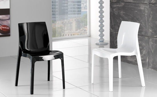 Chair ANTARCTICA, Polypropylene, Anthracite High Brightness