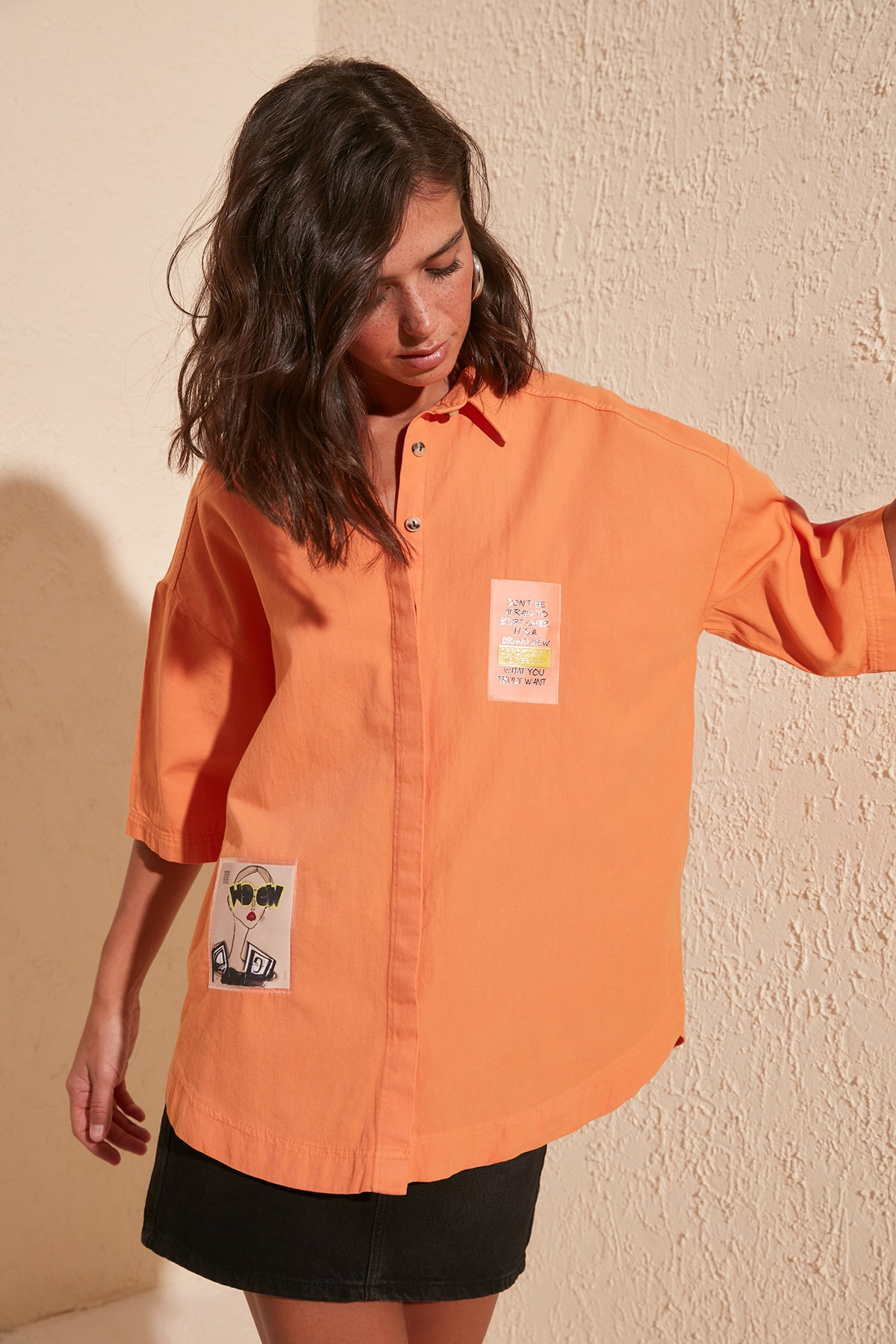 Trendyol Printed Shirt TWOSS20GO0077
