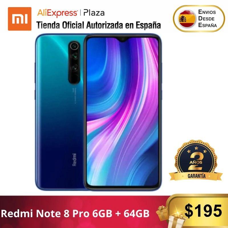 Redmi Note 8 Pro (64GB ROM Con 6GB RAM, Cámara De 64 MP, Android, Nuevo, Móvil) [Teléfono Móvil Versión Global Para España]