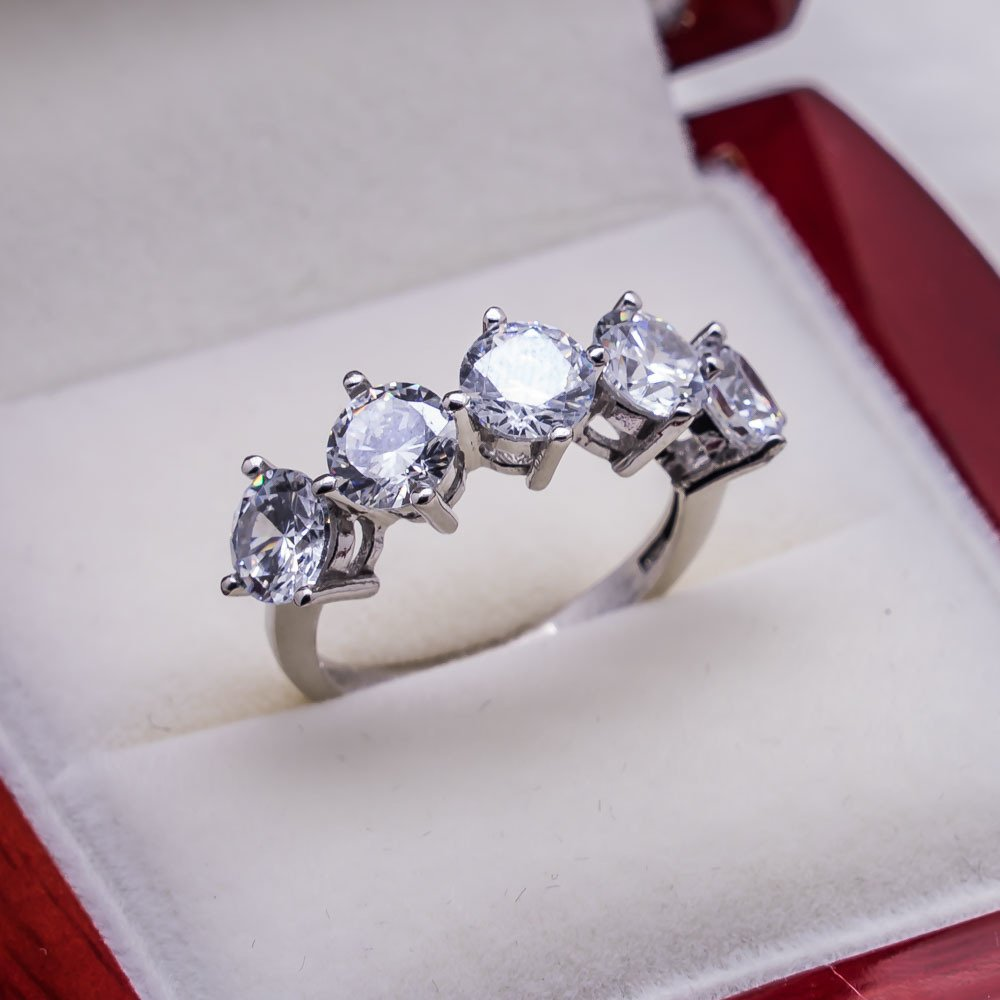 925 sterling Silver Dibs Lady Ring Model 7()