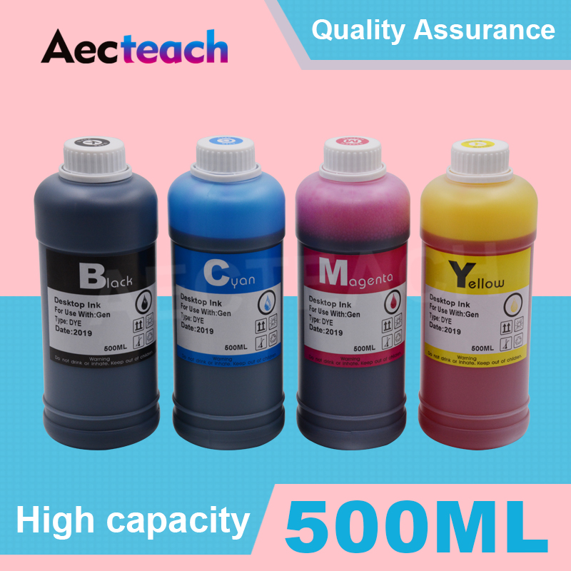 Aecteach 500ml Bottle Printer Dye Ink Refill Kits For Brother LC 123 223 65 75 3219 XL Printer Ink Cartridges|Ink Refill Kits| |  - title=