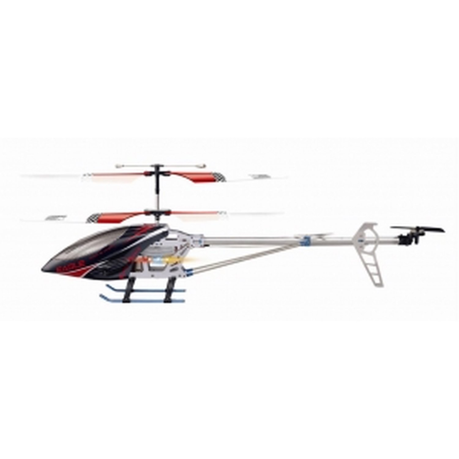 85 CM 3.5 Channel Gyroscope System Metal Frame RC Helicopter with LED lights