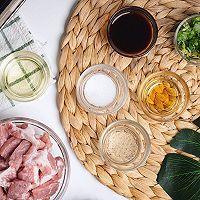 非常简单下饭的泰式炒猪颈肉配饭的做法图解1