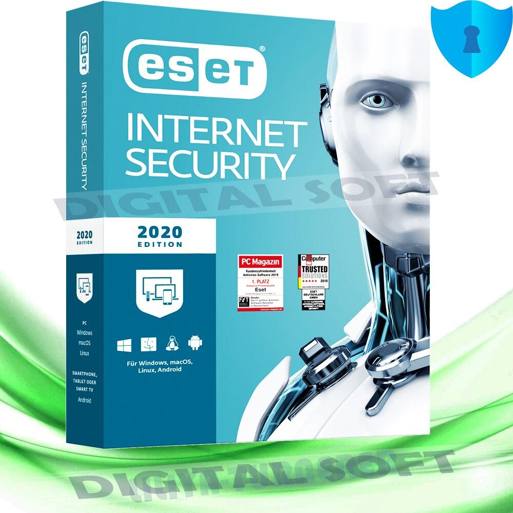 ESET интернет-Безопасность 2020 ( 1 год, 1 шт.)-глобальные ключи ESET безопасность Интернета 1 и ключ лицензии мира