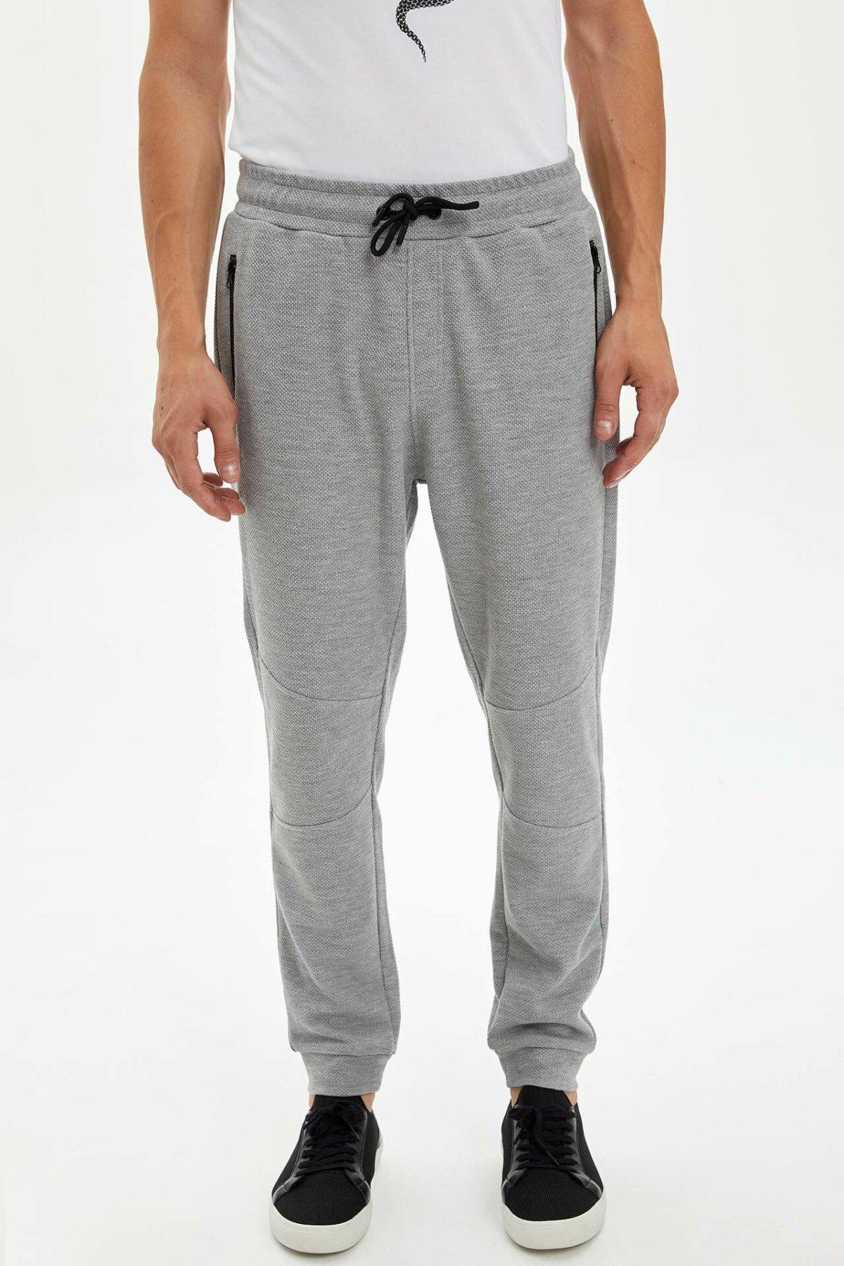 DeFacto Fashion Man Drawstring Waist Trousers Solid Male Sport Casual Long Pants For Men's Comfort Sportpants - L1793AZ19AU