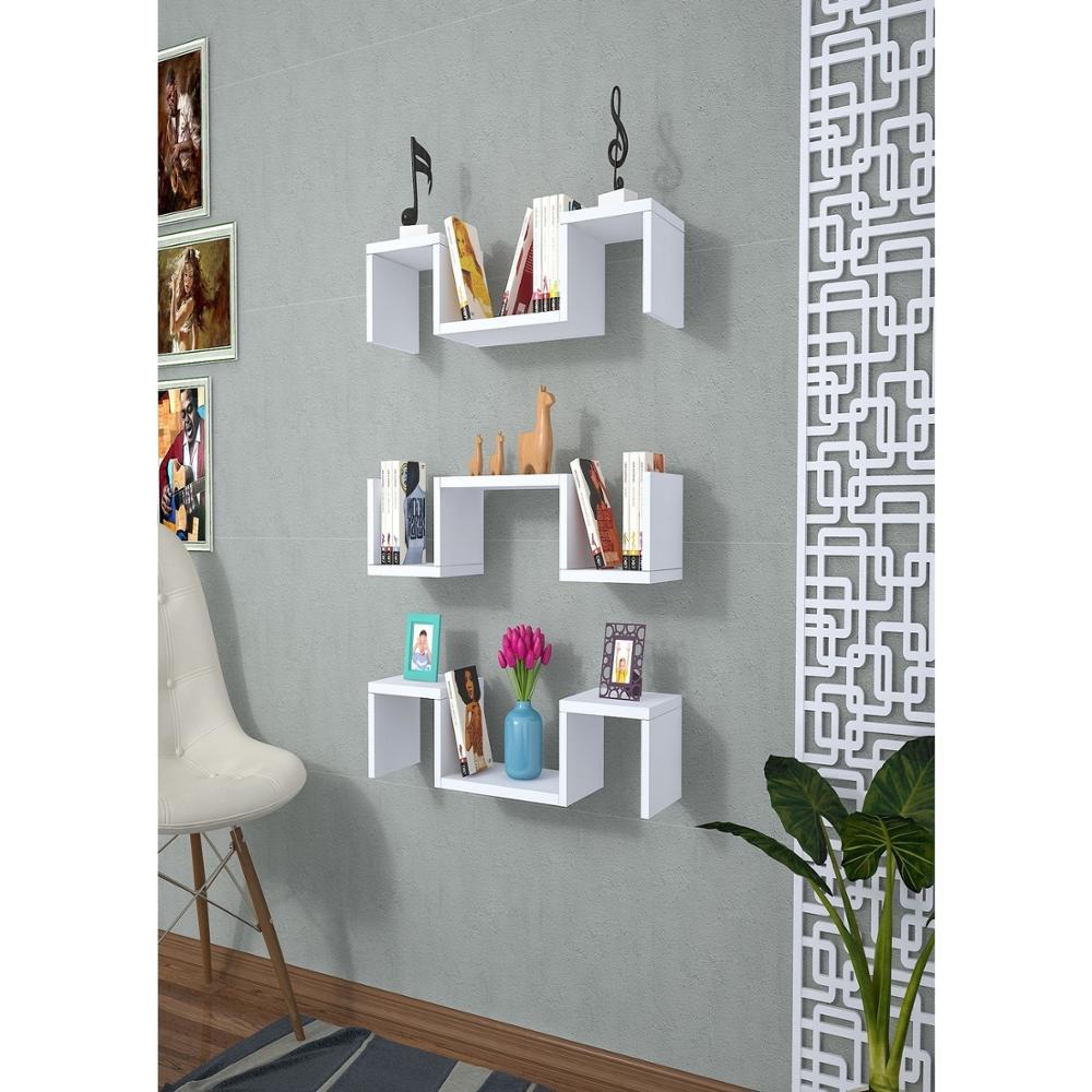 ชั้นวาง & ชั้นวาง MADE IN ตุรกีโมเดิร์นชั้นวางสีตัวเลือกห้องนั่งเล่นไม้ผู้ถือหนังสือ Organizer ชั้นวา...