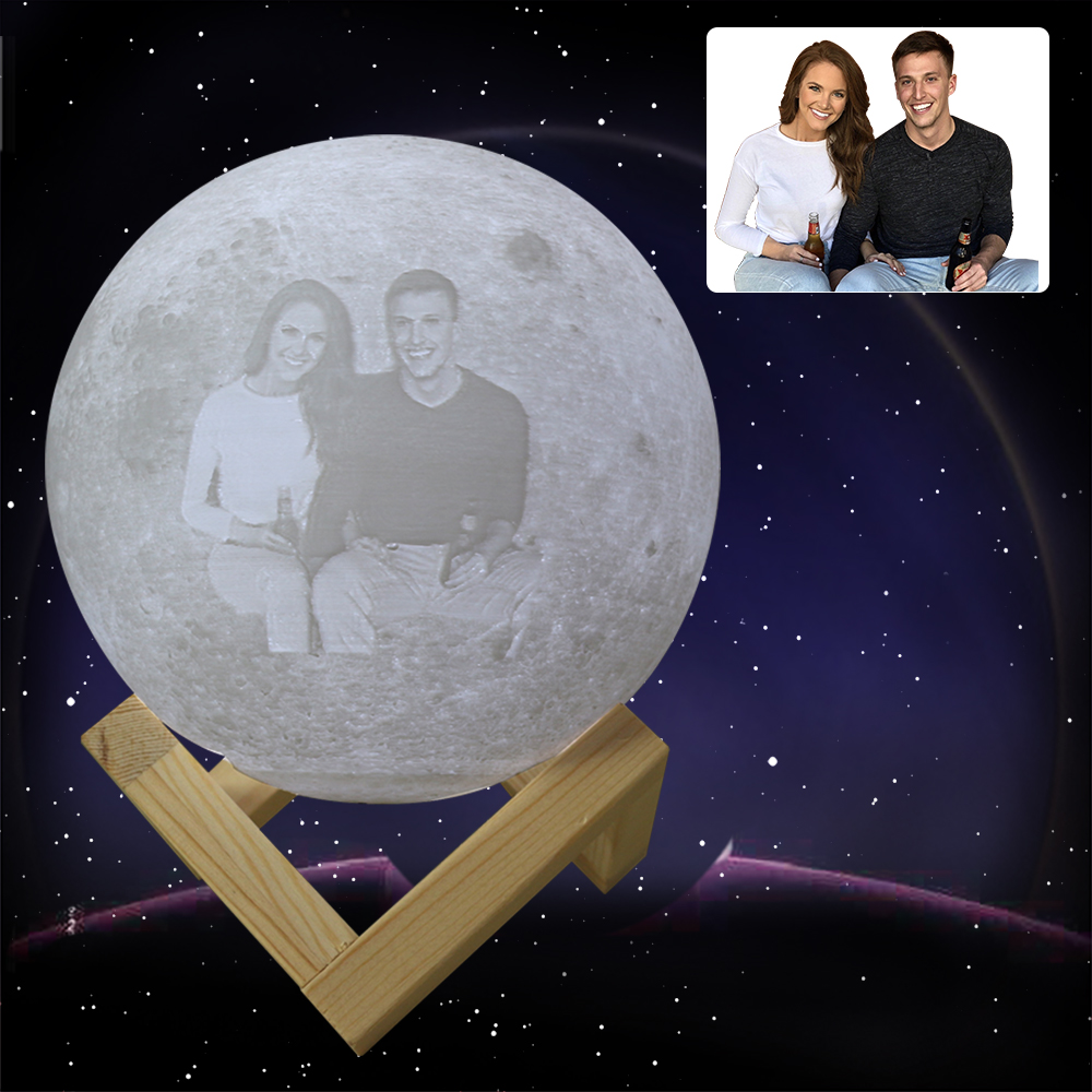 3D Printing Customized Moon Lamp Personalized Moon Lamp USB Charging Night Light For Christmas Girlfriend Gift Boyfriend