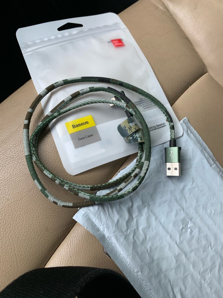Baseus Camouflage USB Cable For iPhone Xs Max Xr X 8 7 6 6s Plus 2.4A Fast Charging Charger Data Cable Elbow Mobile Phone Cables-in Mobile Phone Cables from Cellphones & Telecommunications on AliExpress