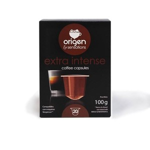EXTRA intense, 20 compatible Sensations origin capsules Nespresso