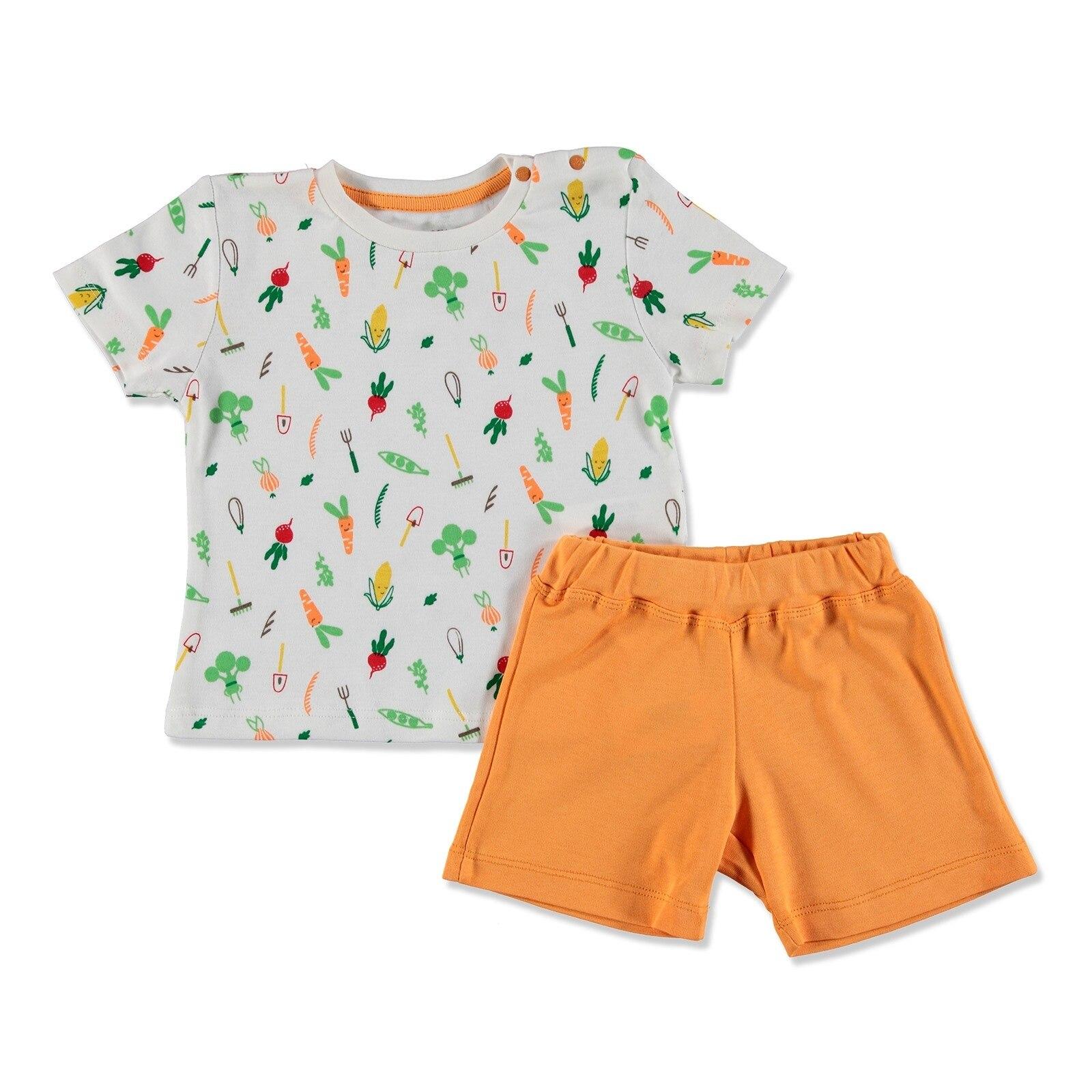 Ebebek HelloBaby Summer Baby Sweet Vegetables T-shirt Short Set