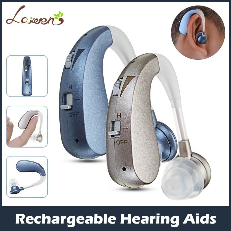 เครื่องช่วยฟัง เครื่องขยายเสียง หูช่วยฟังไร้สาย วัสดุอย่างดี สำหรับผู้สูงอายุ ผู้ที่มีปัญหาเกี่ยวกับการได้ยินเสียง ไม่ค่อยได้ยินเสียง