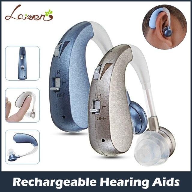 Şarj edilebilir Mini dijital işitme cihazı ses amplifikatörleri kablosuz kulak yardımcıları yaşlılar için orta şiddetli kaybı damla nakliye