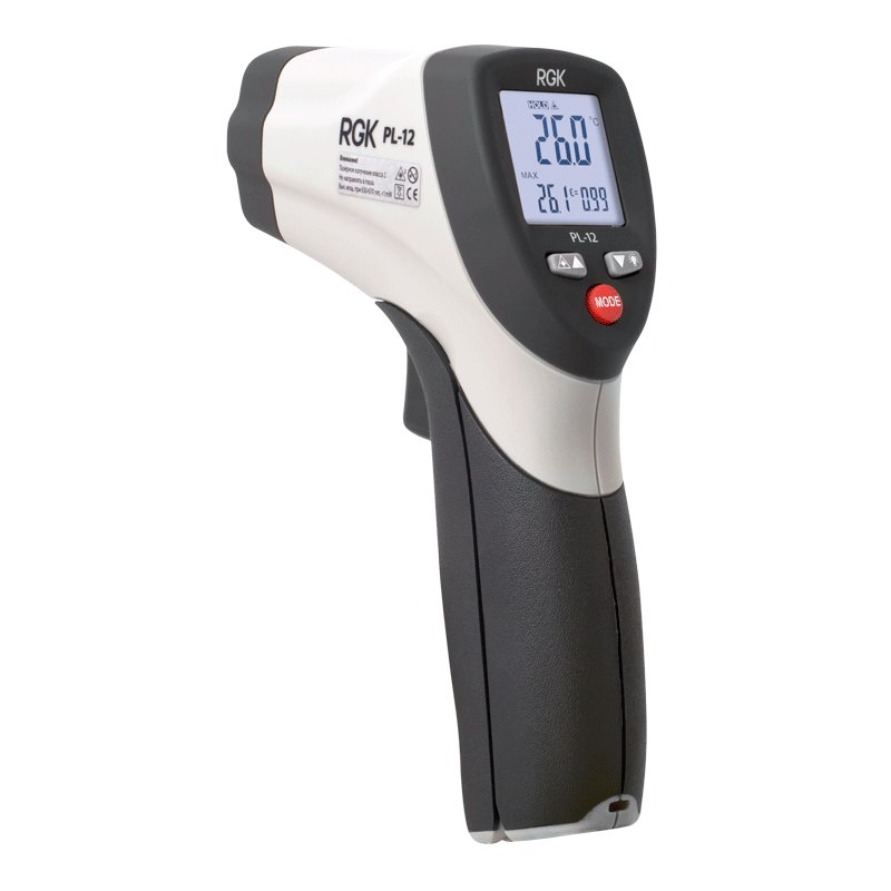 Pyrometer RGK PL-12 (professional non-contact thermometer measuring Range:-50 ° C to + 550°С, bright display) 12 1000v non contact ac voltage detector