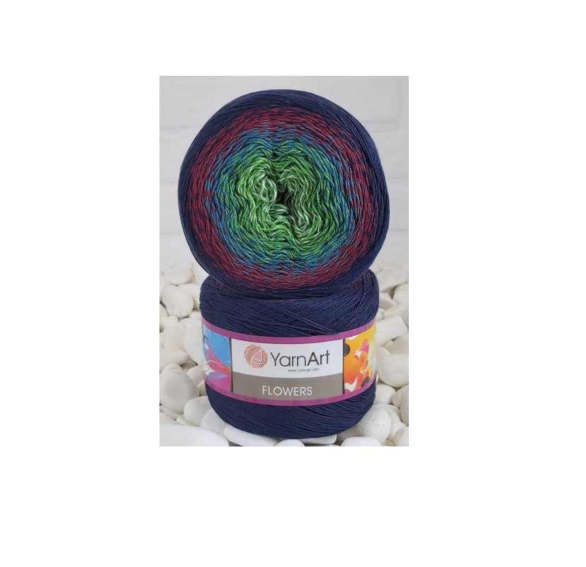 Yarnart fleurs gâteau fil 250gr 1000m tricot Crochet hiver automne Beanie châle bénitier écharpe femmes hommes bricolage fantaisie