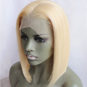 Image 5 - 150% Density Lace Front Human Hair Wigs 613 Blonde 13*4 Straight Short Bob Lace Wigs Brazilian Remy Human Hair Wigs For Womens