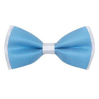 Men's bow tie (blue, microfiber) 56019