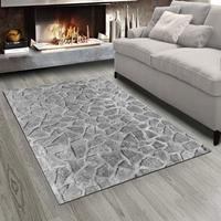 Else szare białe kamienie ścienne 3d Print antypoślizgowa mikrofibra salon nowoczesny dywan zmywalny dywan do składania Mat w Dywany od Dom i ogród na