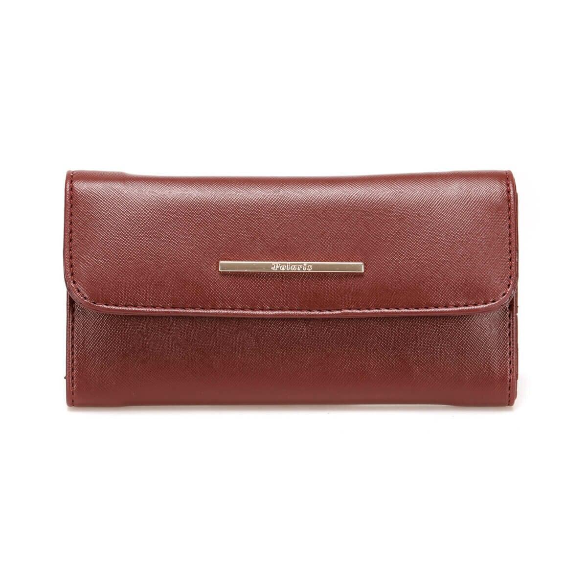 FLO Women Walllet Burgundy Fashion Female Wallet Small Hand Money Bag Женский кошелек 91.968.007.D Polaris