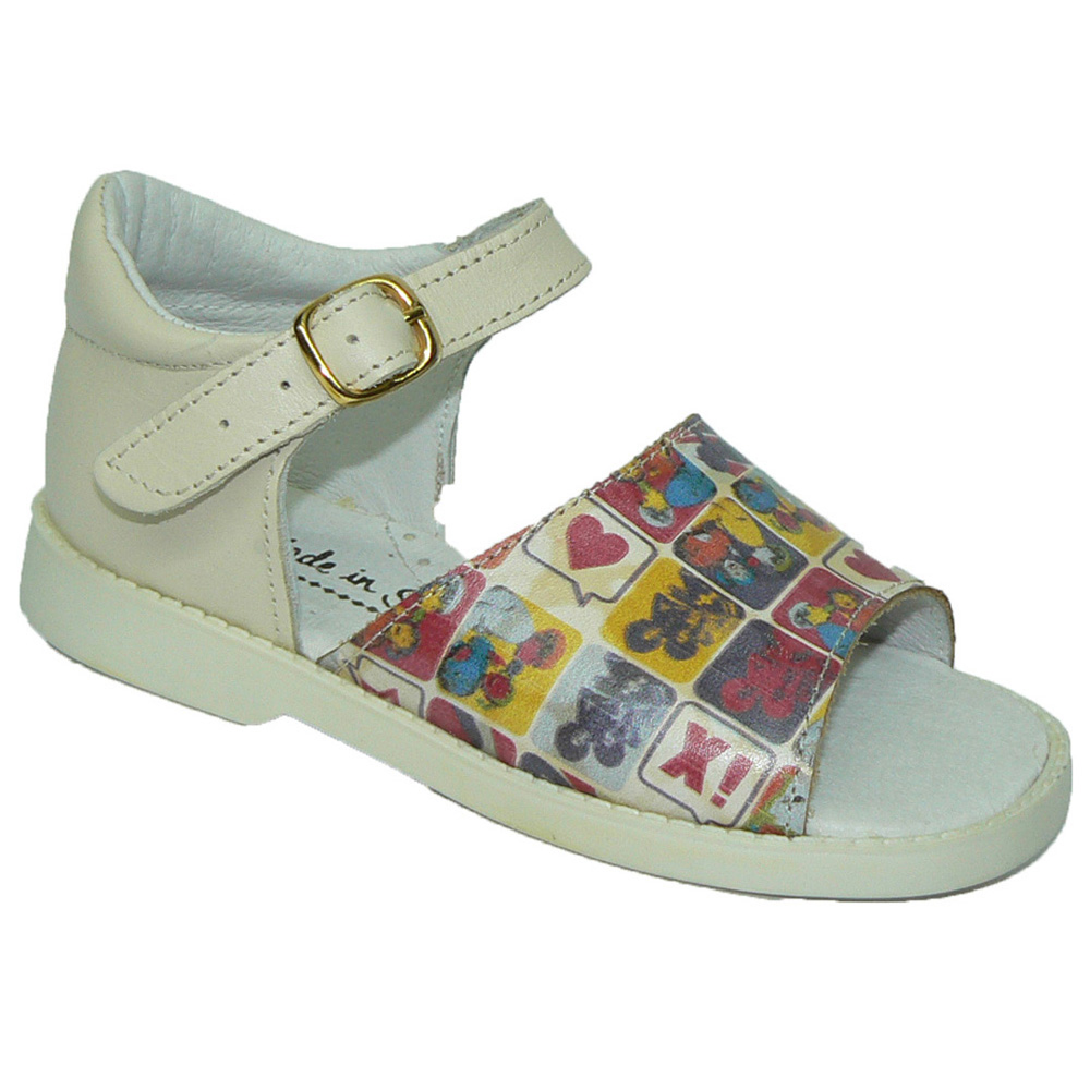 SHOES ROSEMARY 0161 Leather Sandal First Steps And Toe For Baby Girl