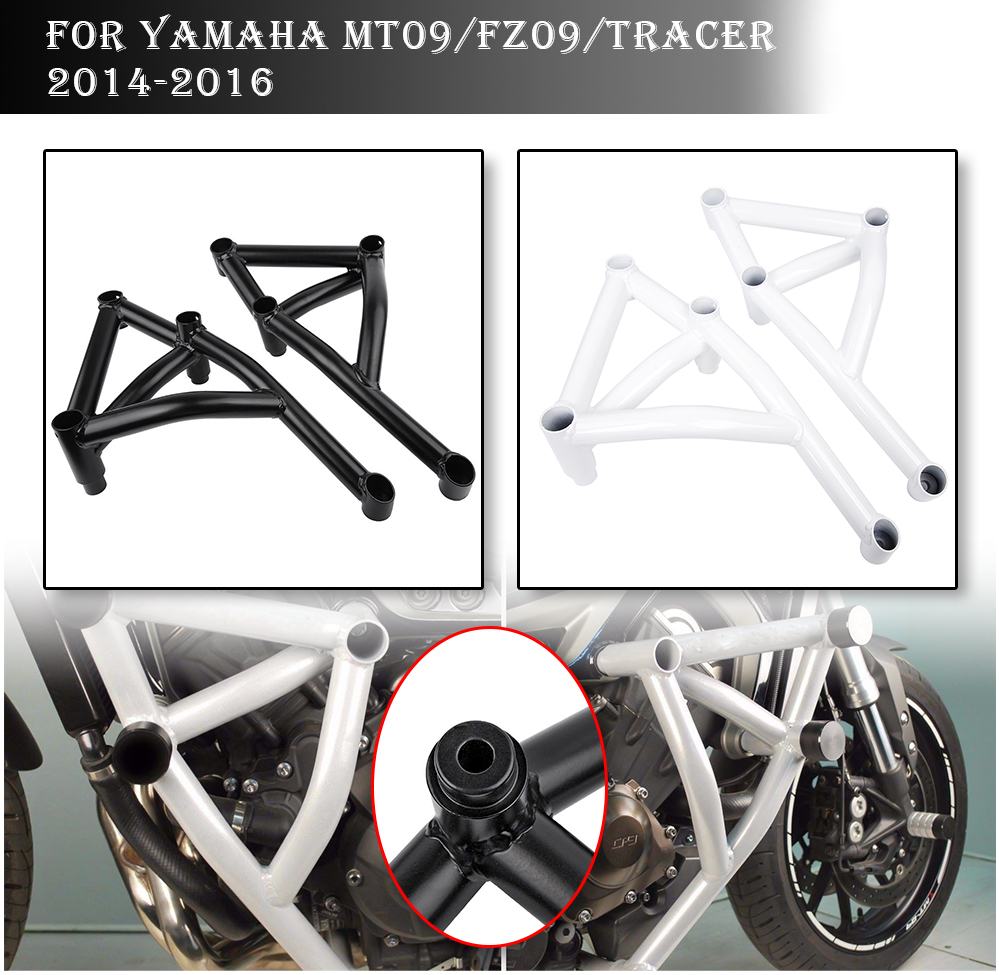 Stunt Cage Engine Guard Crash bar for Yamaha MT09 FZ09 MT FZ 09 Tracer MT 09 FZ 09 Falling Protection Motorcycle Accessories in Covers Ornamental Mouldings from Automobiles Motorcycles