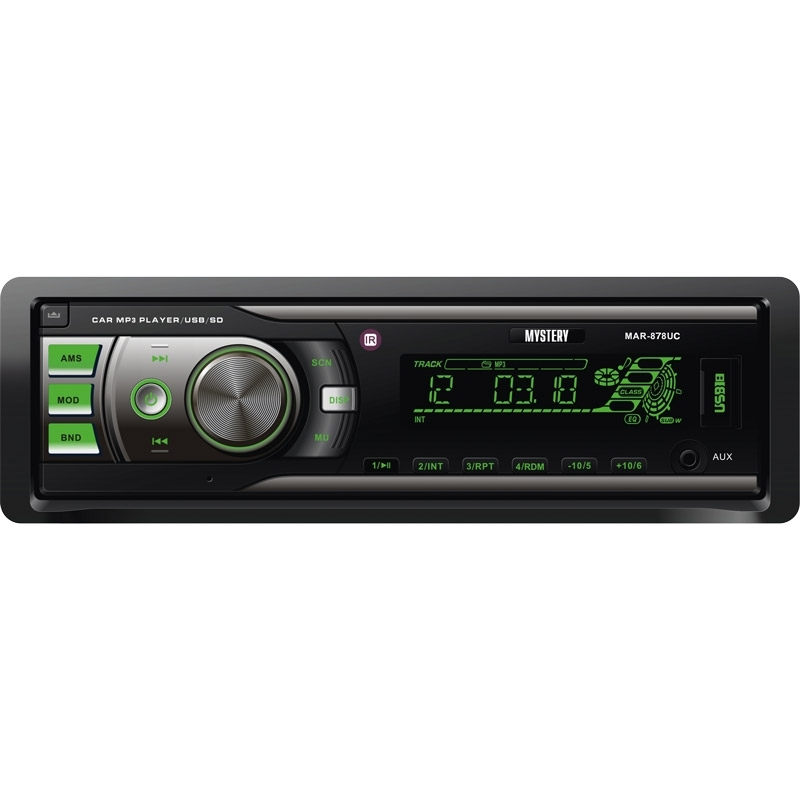Car radio MYSTERY MAR-878UC (4x50 w Amplifier, detachable panel Usb Port, adjustable backlight, AUX in, 2 pairs lin. In the mystery mar 929u