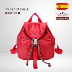Giovanna Milano Anti-theft nylon backpack with knocker drawstring spacious bag pockets zipper school summer travel casual T11056