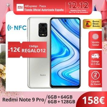 Xiaomi Redmi Note 9 Pro (64GB/128GB ROM 6GB RAM Cámara Cuádruple de 64 MP Android Nuevo Móvil) [Teléfono Móvil Versión Global]
