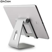 Adjustable Aluminum Tablet Stand Multi-Angle Non-Slip Desk Tablet/Phone Holder for iPad Tab Kindle Nintendo Switch (Up to 12.9