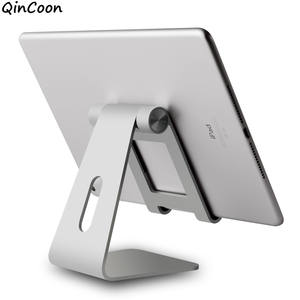 "Adjustable Aluminum Tablet Stand Multi-Angle Non-Slip Desk Tablet/Phone Holder for iPad Tab Kindle Nintendo Switch (Up to 12.9"")"