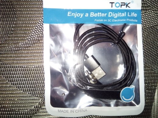 TOPK AM28 360 degree Rotate Magnetic Cable Micro USB Type C Cable Magnetic Charger LED USB Cable for iPhone 11 XR XS Max X 8 7|Mobile Phone Cables|   - AliExpress