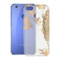 Mobile cover Honor 8 Lite KSIX Flex TPU Transparent Golden   -