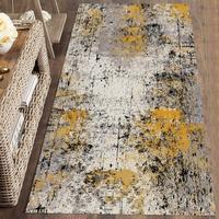 Else brązowy szary żółty plamy farby kolorowe 3d drukuj antypoślizgowe mikrofibry zmywalny Runner maty maty podłogowe dywaniki przedpokój dywany w Dywany od Dom i ogród na