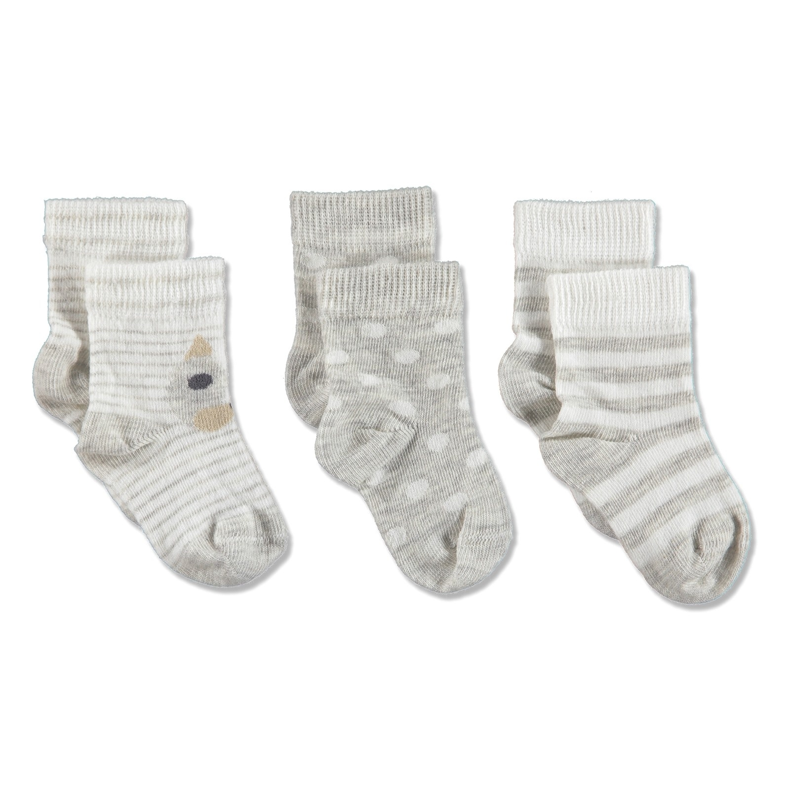 Ebebek Aziz Bebe Cotton Baby Socks 3 Pcs