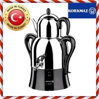Electric Turkish Samovar KORKMAZ Caykolik Brand Samowar Best Quality Teapot Kettle Tea Maker Machine Kitchen Household A341Black